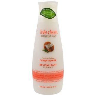 LIVE CLEAN, MOISTURIZING CONDITIONER, COCONUT MILK, 12 FL OZ / 350ml
