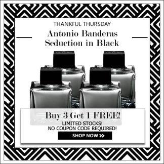 ANTONIO BANDERAS SEDUCTION IN BLACK EDT FOR MEN {BUY 3 GET 1 FREE} [THANKFUL THURSDAY SPECIAL]
